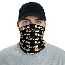 Load image into Gallery viewer, Bitcoin Logo Pattern, Neck Gaiter Face Shield Mask
