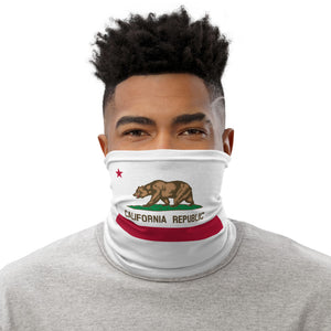 California Republic Flag Neck Gaiter Motorcycle Tube