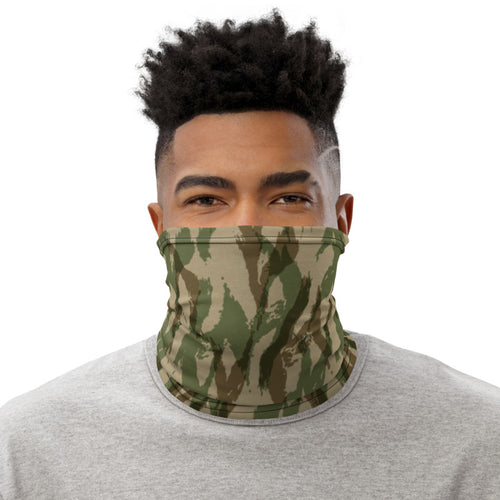 Green Camo Pattern, Neck Gaiter Motorcycle Tube