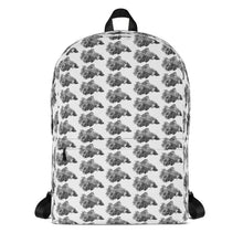 Load image into Gallery viewer, Betta Splendens Fighting Fish Backpack White
