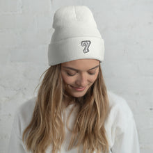 Load image into Gallery viewer, Number 7 Font 2, Unisex Cuffed Beanie