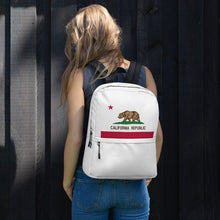 Load image into Gallery viewer, California Flag, Backpack White