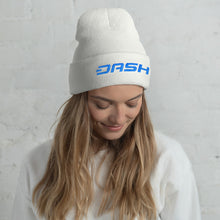 Load image into Gallery viewer, Dash Cryptocurrency Logo Text, Unisex Cuffed Beanie