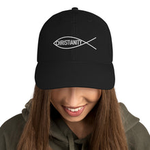 Load image into Gallery viewer, Religious Fish Symbol With Christianity Text, Dad Cap