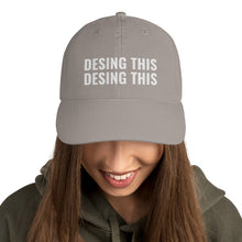 Load image into Gallery viewer, Design Your Own Text 2 Lines White, Champion Dad Cap