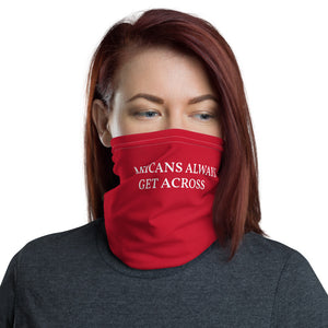 Mexicans Always Get Across, Neck Gaiter Face Mask Motorcycle Tube Red