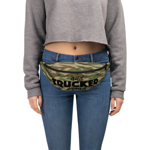 Trucker and Proud, Fanny Pack Green Camo
