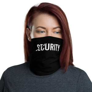 Security Text White, Neck Gaiter Face Mask Motorcycle Tube