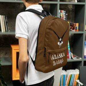 Alaska Wildlife Eagle, Backpack Brown