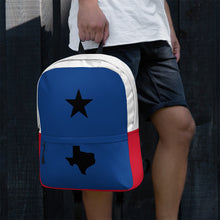 Load image into Gallery viewer, Black Texas Star and Map, Backpack Multicolor