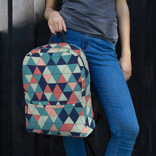 Load image into Gallery viewer, Multicolor Triangle Pattern, Backpack