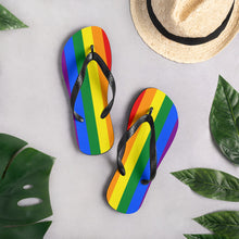 Load image into Gallery viewer, Pride Flag Colors, Unisex Flip-Flops