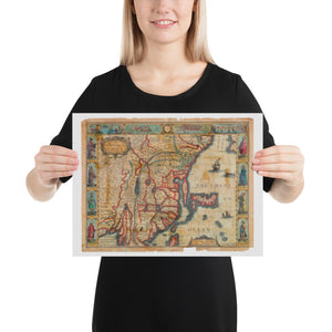 Old Map Of China 1626, Premium Luster Photo Paper Poster