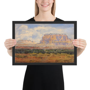 Poster of The Enchanted Mesa Watercolor Painting