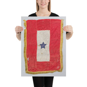 Blue Star Service Flag, Premium Luster Photo Paper Poster