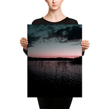 Load image into Gallery viewer, Lake at Summer Night Sunset, Canvas Wall Art