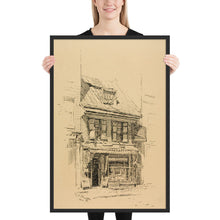 Load image into Gallery viewer, The Betsy Ross House Birthplace of The American Flag, Framed Poster