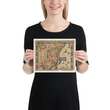 Load image into Gallery viewer, Old Map Of China 1626, Premium Luster Photo Paper Poster