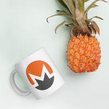 Load image into Gallery viewer, Monero Cryptocurrency Logo, White Glossy Coffee Mug