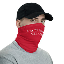 Load image into Gallery viewer, Mexicans Always Get Across Neck Gaiter Face Mask Motorcycle Tube Red