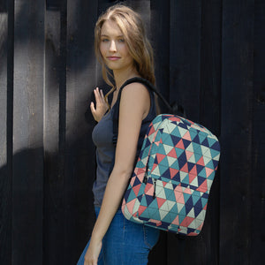Multicolor Triangle Pattern, Backpack