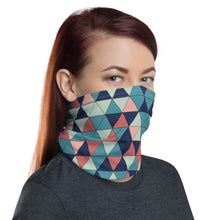 Load image into Gallery viewer, Multicolor Triangle Pattern, Neck Gaiter Face Shield Motorcycle Tube