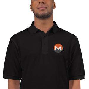 Monero Cryptocurrency Logo, Men's Premium Polo Shirt