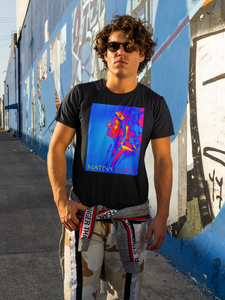 Streetwear style tee featuring indian man