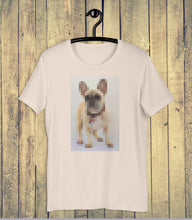 Load image into Gallery viewer, Digi Doge Frenchie T-shirt on Hanger
