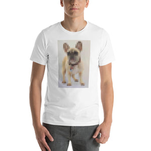 Digi Doge Frenchie, Short-Sleeve Unisex T-Shirt