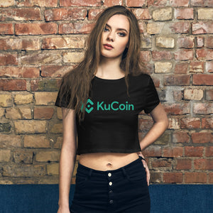 Kucoin Cryptocurrency Exhange Logo, Women's Crop Tee
