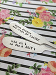 Hand Stamped Vintage Cheese Knife Set