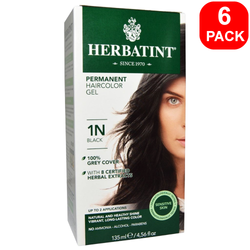 Herbatint Natural Herb Based Hair Colour 1N Black 6 units