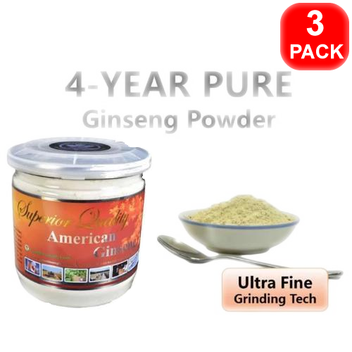 4-Year Pure Ginseng Powder 150g 3 units