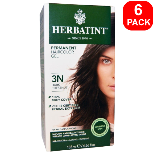 Herbatint Natural Herb Based Hair Colour 3N Dark Chestnut 6 units