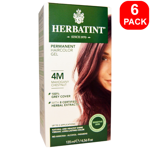 Herbatint Natural Herb Based Hair Colour 4M Mahogany Chestnut 6 units