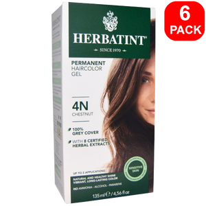 Herbatint Natural Herb Based Hair Colour 4N Chestnut 6 units
