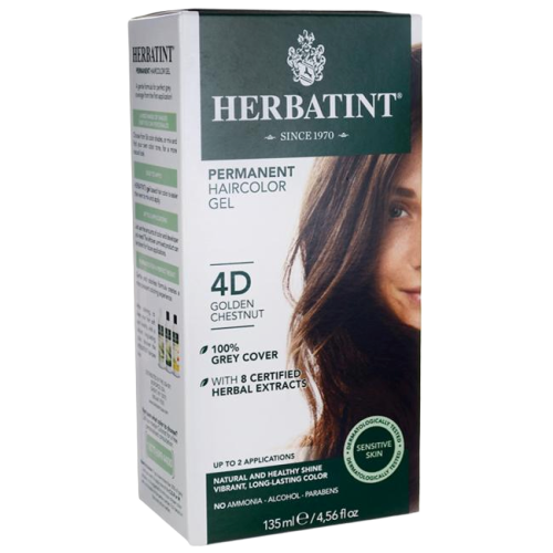 Herbatint Natural Herb Based Hair Colour 4D Golden Chestnut