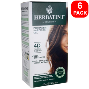 Herbatint Natural Herb Based Hair Colour 4D Golden Chestnut 6 units