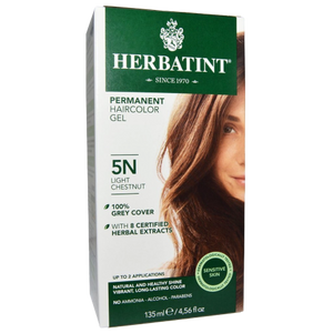 Herbatint Natural Herb Based Hair Colour 5N Light Chestnut