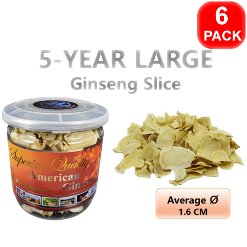 5-Year Ginseng Large Slice 60g 6 units