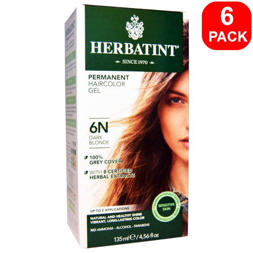 Herbatint Natural Herb Based Hair Colour 6N Dark Blonde 6 units