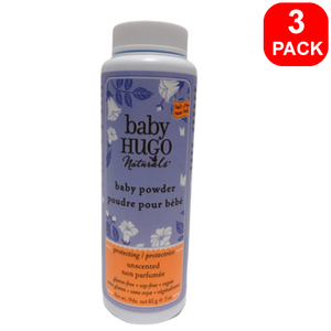 Baby Hugo Baby Powder Unscented 85g 3 units