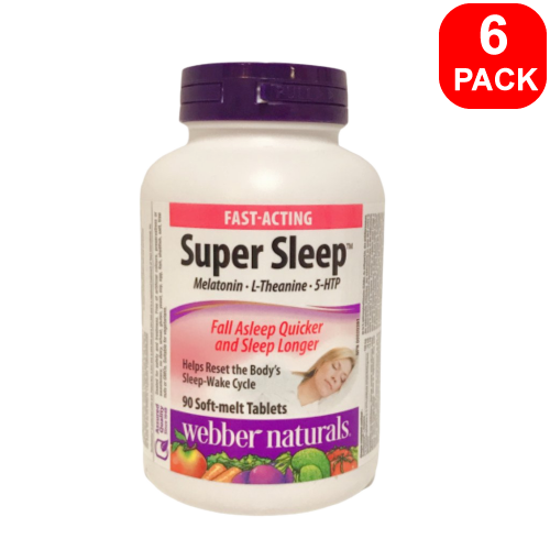 Webber Naturals Super Sleep 90ct 6PK