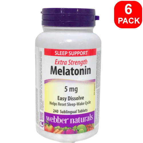 Webber Naturals Melatonin 5mg 240ct 6 Units