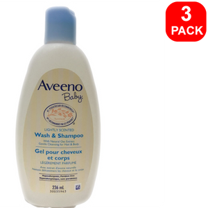 Aveeno Baby Wash & Shampoo 236ml 3 units