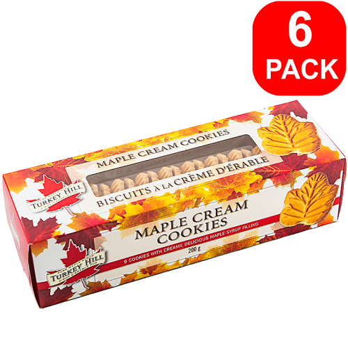 Turkey Hill Maple Cream Cookies 200g 6 Units