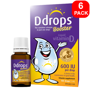 Ddrops Booster Liquid Vitamin D3 600 IU 6 units