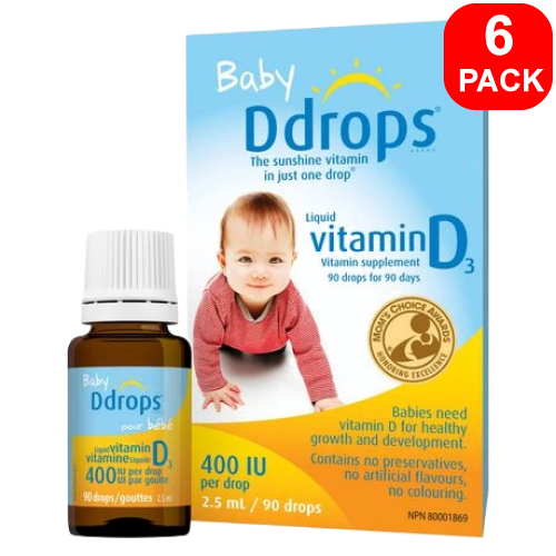 Baby Ddrops Liquid Vitamin D3 400 IU 6 units