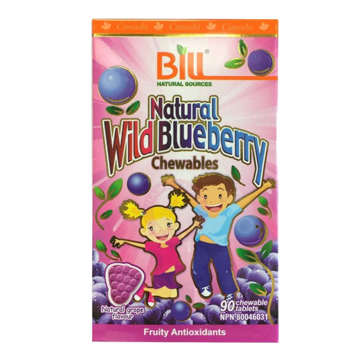 Bill Natural Wild Blueberry 90ct